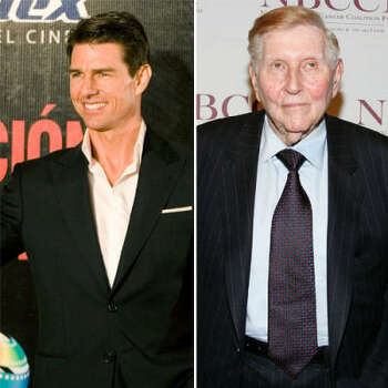 Tom Cruise vs. Sumner Redstone: Tom started jumping on couches and talking about Scientology a bit too much. Redstone, head of Paramount, said even his wife was sick of hearing about Cruise, and didn't renew his contract.