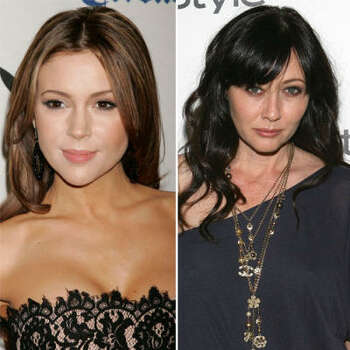 Alyssa Milano vs. Shannen Doherty: At first, the co-stars of Charmed were so close that Doherty served as bridesmaid at Milano's wedding. Reports were that Doherty demanded to be in the center of all publicity shots, shoving Milano to the side. The tension got so bad that Milano threatened to quit if Doherty didn't disappear.