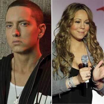 Eminem vs. Mariah Carey: Eminem wrote a song claiming he and Mariah Carey dated and she was obsessed with him. Mariah denied they ever dated. Then in her video Obsessed, Mariah featured an Eminem lookalike who stalked her. After people questioned why she would do that, she claimed it was coincidental that the character resembled Eminem.