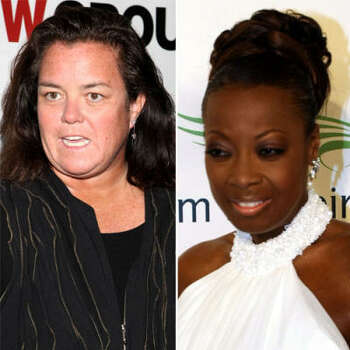 Rosie O'Donnell vs. Star Jones: Rosie suggested women should stick up for convicted felon Martha Stewart the way black people stick up for OJ Simpson.  Star said her remarks were racially insensitive. The next day Rosie said she would never appear on the same stage with Star. Soon after, Star continued to dismiss the claims that she lost all her weight by gastic bypass surgery. Rosie wasn't buying it, and ranted on her blog. Star was replaced on The View by Rosie.