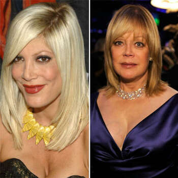 Tori Spelling vs. Candy Spelling: Candy and her billionaire husband threw a million dollar wedding for Tori and her groom. But Candy was non-too pleased when, less than a year later, her daughter found a new guy. Candy evicted Tori from her apartment, which Candy owned. When Tori got married again, Candy was not invited. Tori then found out via email that her father died and then was basically cut her out of the will. They've recently buried the hatchet.