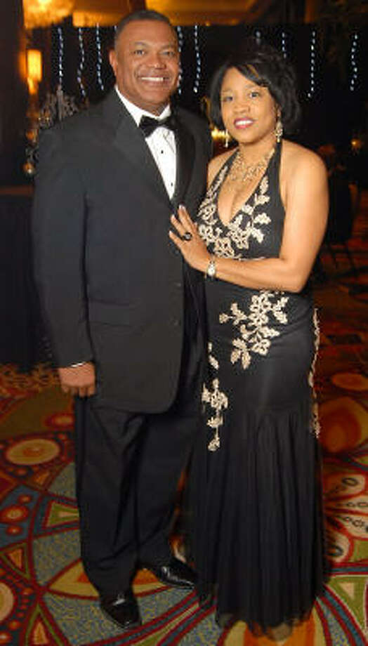 Terry Williams and his wife Joycelyn at the UNCF 21st annual Black Tie Gala at the Hilton Americas Hotel. Photo: Dave Rossman, For The Chronicle
