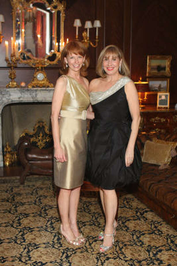 Susan Krohn and Denise Bahr at the kickoff party for Houston Grand Opera's upcoming Yellow Rose Ball honoring Lynn Wyatt. The party was held at Krohn's home. Photo: Priscilla Dickson