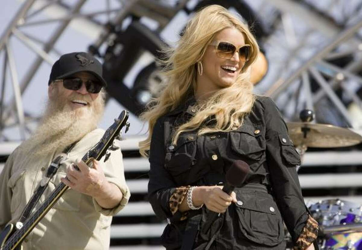 Jessica Simpson. The blonde Texan still sells out crowds whether she's a pop diva or going country.