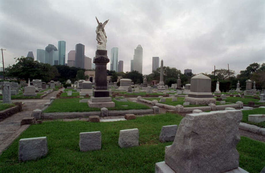 The Congregation Beth Israel Cemetery, which opened in 1844 on West Dallas, is another religious landmark in the city.  Photo: E. Joseph Deering, Houston Chronicle