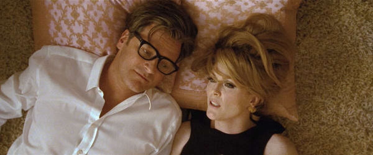 Colin Firth and Julianne Moore star in Tom Ford's A Single Man, which opens Friday.