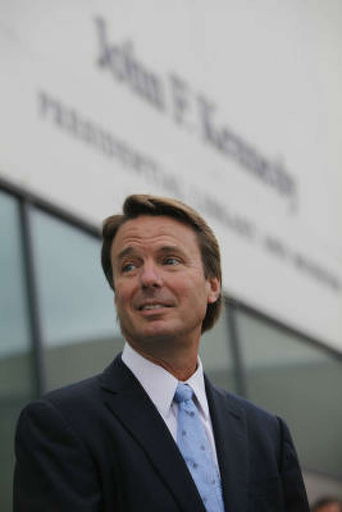 John Edwards, former democratic senator to North Carolina, fessed up to having an affair with a campaign worker on his staff for the 2008 presidential elections. All this while his wife has cancer.