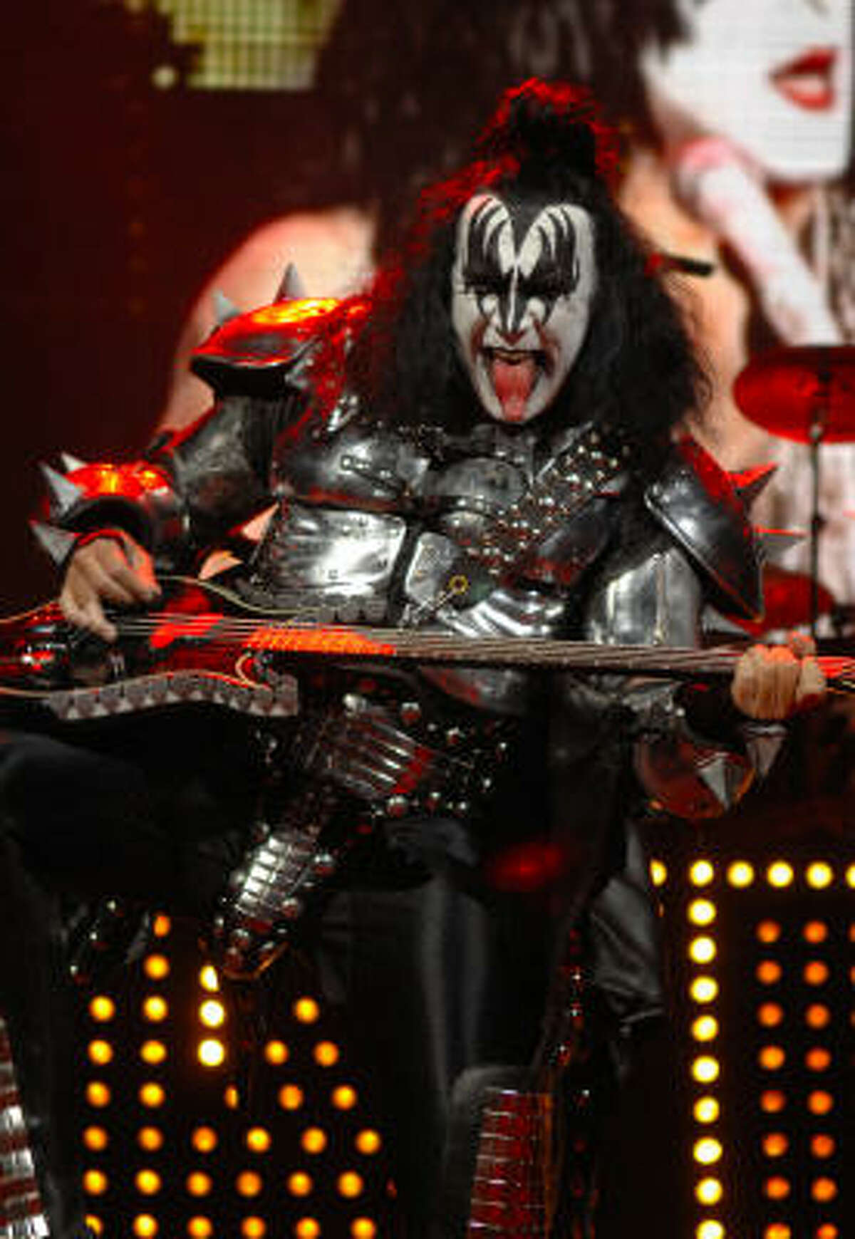 What would a KISS show be without Gene Simmons' tongue? Read a review of the show here.
