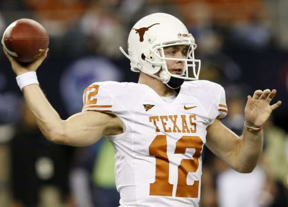 Texas quarterback Colt McCoy completed 20 of 36 passes for 184 against Nebraska. He also threw three interceptions in the win. Photo: Ronald Martinez, Getty Images