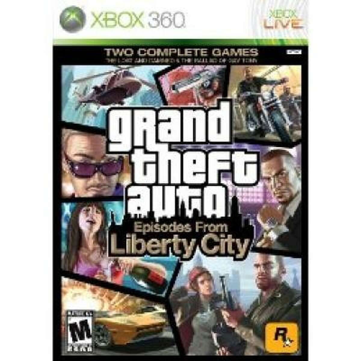 Grand Theft Auto: Episodes from Liberty City Rockstar; Rated M for Mature; $39.99 Episodes from Liberty City combines the two downloadable expansions of Grand Theft Auto IV onto one disc. The Lost and the Damned puts in you in the shoes of Johnny K, the No. 2 man in a Liberty City bike gang. In The Ballad of Gay Tony you play as Luis, the bodyguard of a chic and rich nightclub owner. The stories are wildly different, but both episodes offer more of the same great gameplay and writing that GTA is known for.