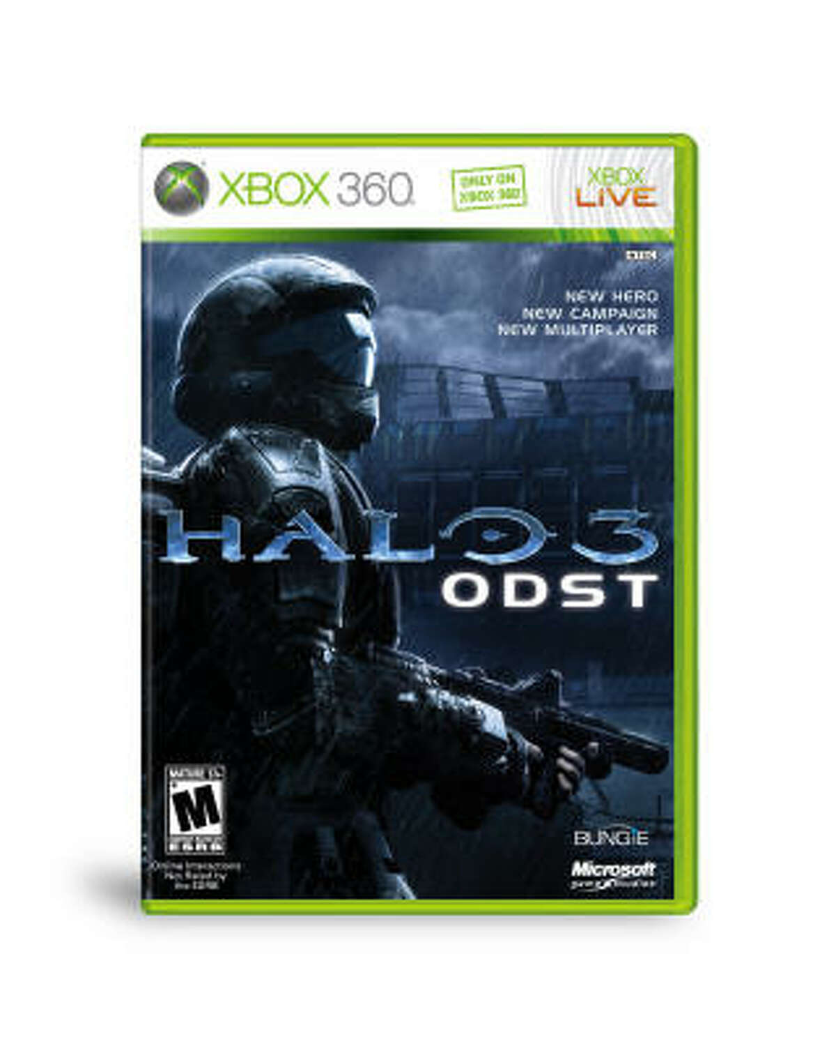 Halo 3: ODST Microsoft; Rated M for Mature; $59.99 Bungie's latest hit is more than an expansion. Though the game includes all of the Halo 3 multiplayer maps (all of the downloadable ones on Xbox LIVE), the single-player campaign is stellar and is on par with the original Halo: Combat Evolved story and plot. The firefight mode, online or offline, is worth the price of admission.