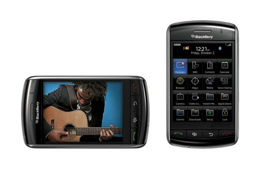 The BlackBerry Storm is the iPhone equivalent for the professional set. It has all the great features the BlackBerry has, along with multimedia capabilities, GPS, video and more. Photo: AP