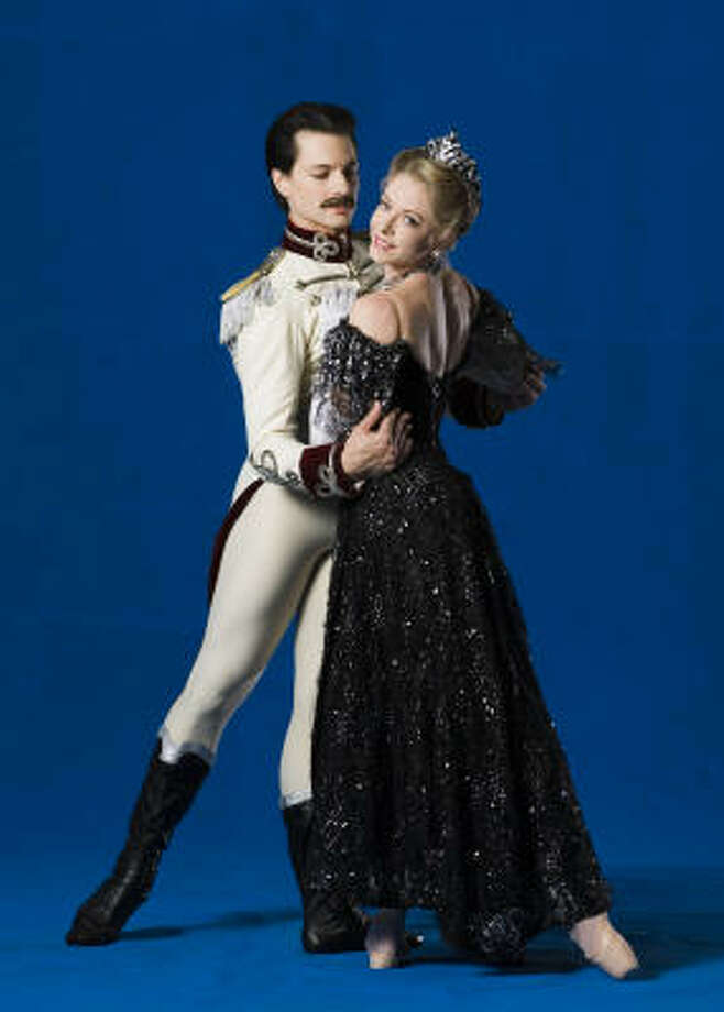 "With Simon Ball in a promotional portrait for ""The Merry Widow."" Photo: Drew Donovan, Houston Ballet"