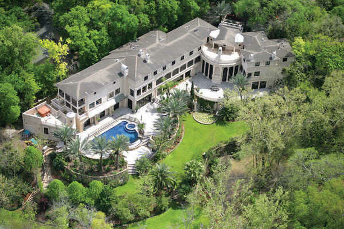 Aerial view of the private property.
