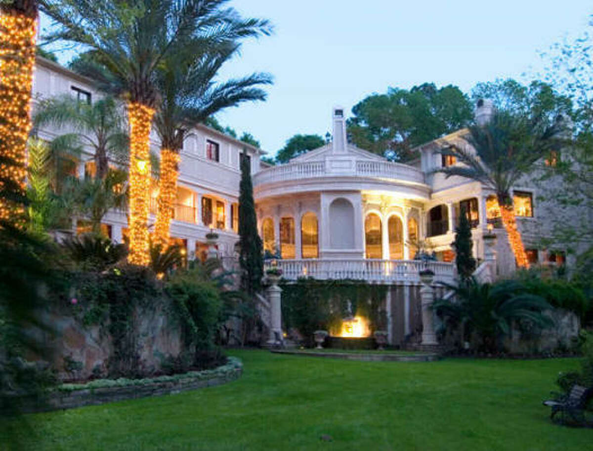 The home boasts eight bedrooms and 10 full baths.