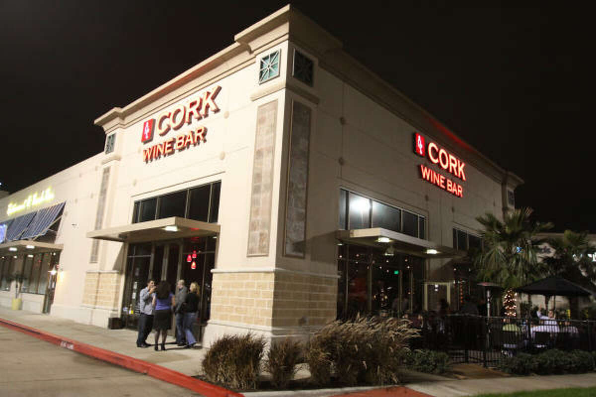 Cork Wine Bar, 19325 Gulf Freeway in Webster, has an excellent selection of wines.