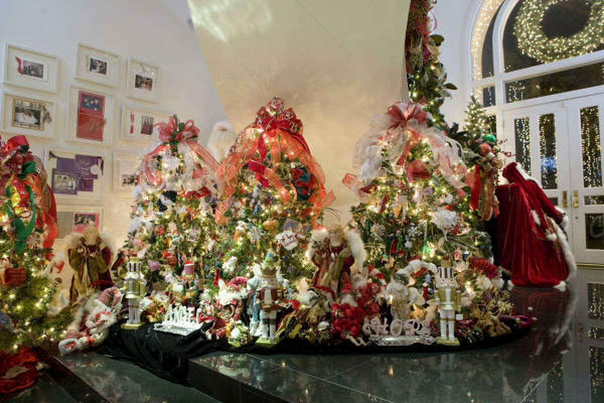 Their grandmother, Jo Rene Van Voorhis, purchased a tree for each triplet for their first Christmas.