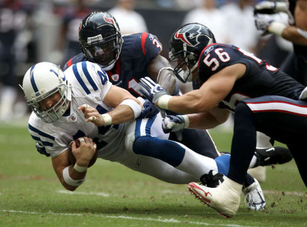 RISING: Linebacker Brian Cushing Cushing intercepted his third pass of the season and had a team-high 11 tackles. Entering Monday, he was fourth in the NFL with 99 tackles.