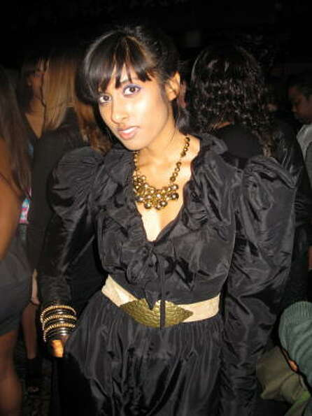 Singer Anjulie who opened for Raphael Saadiq, at the after party.