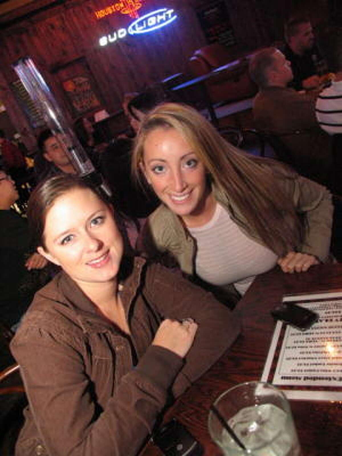 Nicole Williams, left, and Colleen Sullivan