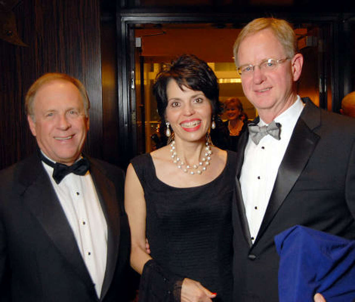 From left: Terry Looper with Elisabeth and Hank Rush