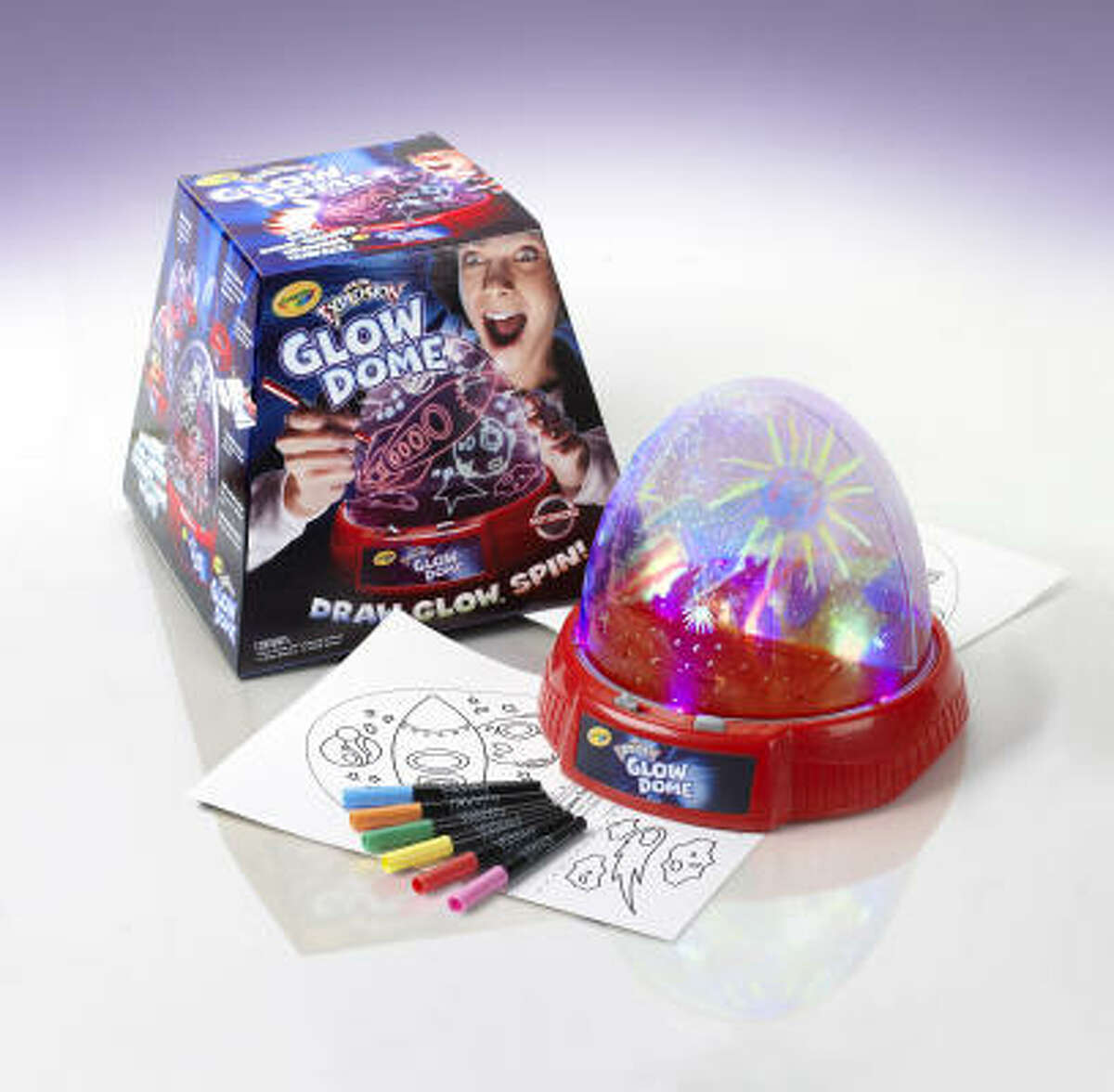 Doodle on Crayola Glow Dome ($30, ages 6 and up) with special glow markers. Then, turn out the lights and switch on the orb to see the drawings light up and spin around. Read more about Good Housekeeping's Best Toy Awards here.