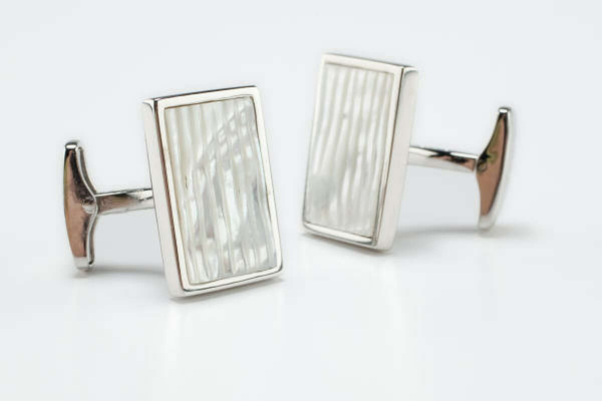Cuff links by Zegna, $360, Neiman Marcus