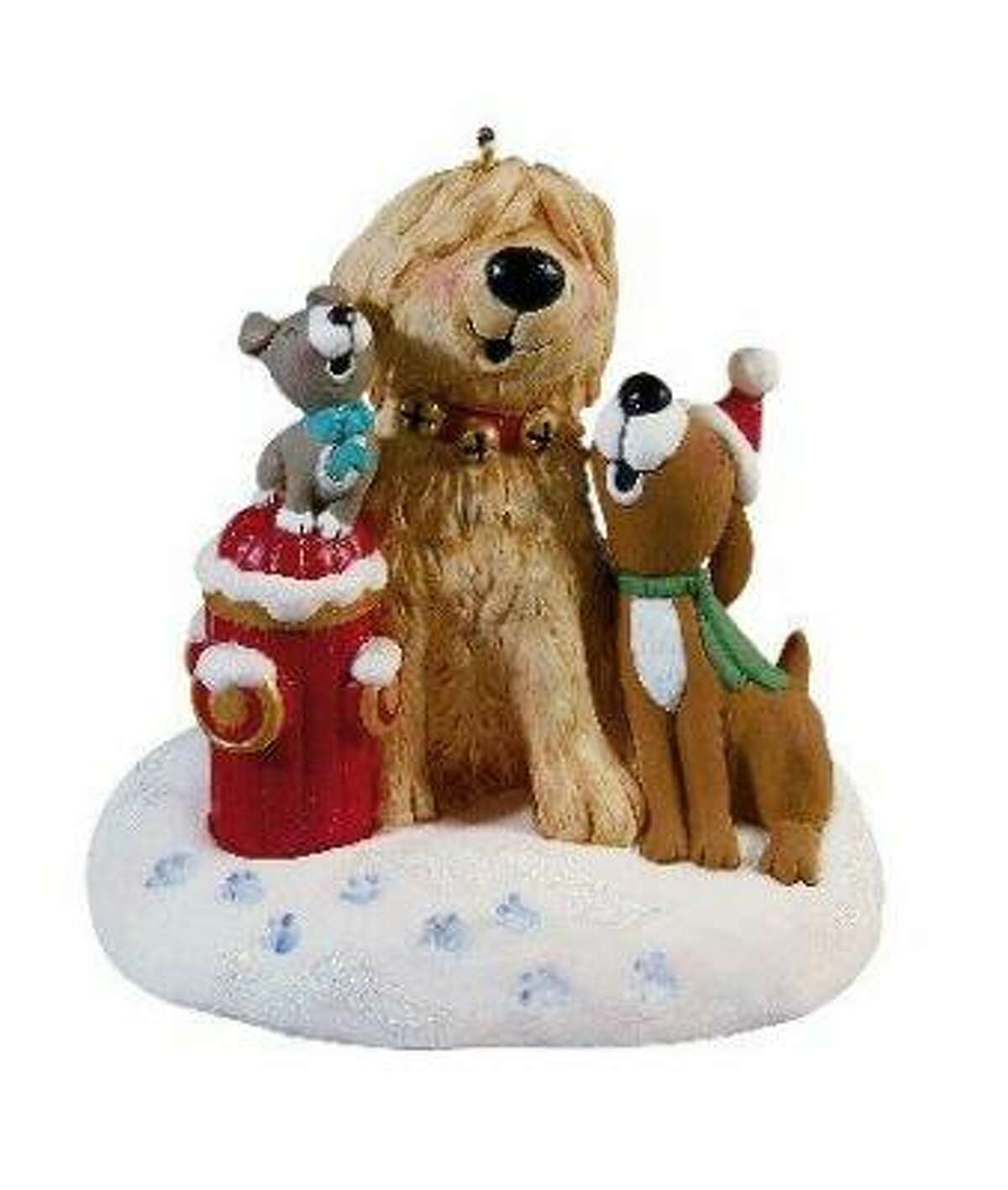 2009 Jingle Bells ornament: Hearing the sound of the Singing Dogs performing Jingles Bells coming from this battery-operated Hallmark ornament will put even a cat in the holiday spirit. Or, maybe it will scare him away from climbing the tree. $16.50, Hallmark stores