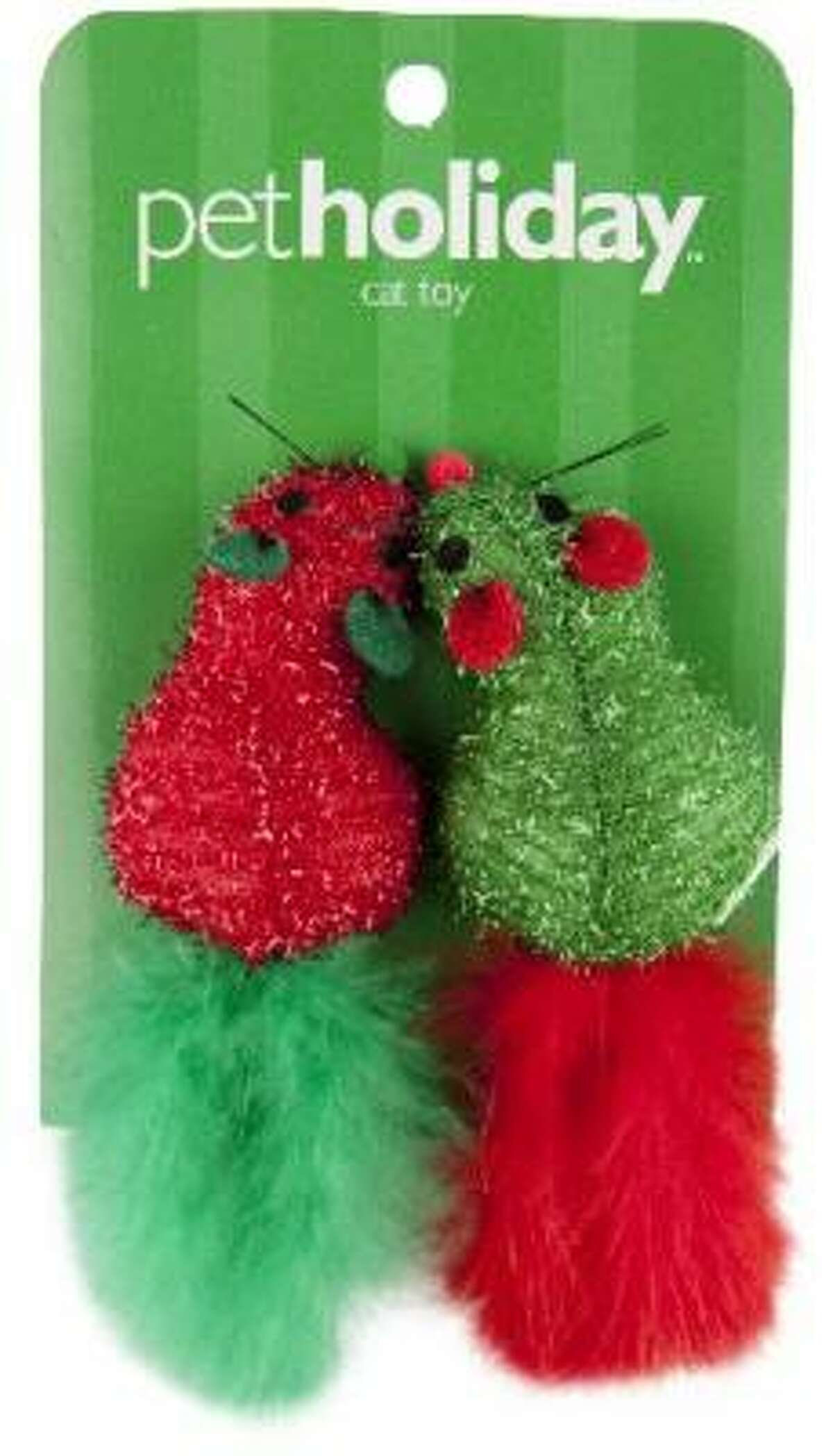 Holiday cat toys: Holiday-themed mouse toys for cats. $2.99, PetSmart