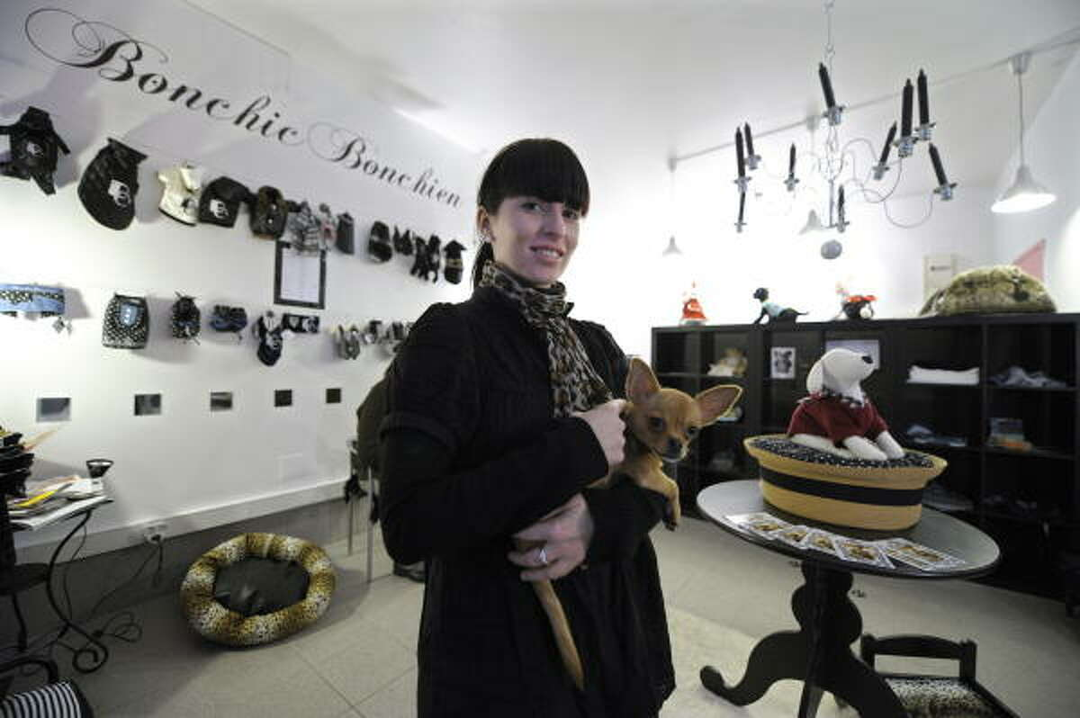 During a summer internship at fashion house Bill Blass in New York, Celine Boulud discovered that canine fashion is all the rage, she said in an AFP interview. So she decided to open a boutique in Lyon, France.