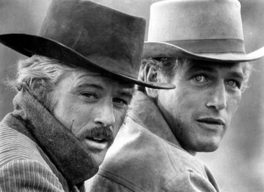 Robert Redford and Paul Newmanin Butch Cassidy and the Sundance Kid (1969) and The Sting (1973) paired the two as best-buddy criminals and drifters in the films. They quickly became lifelong friends off-screen. Photo: AP