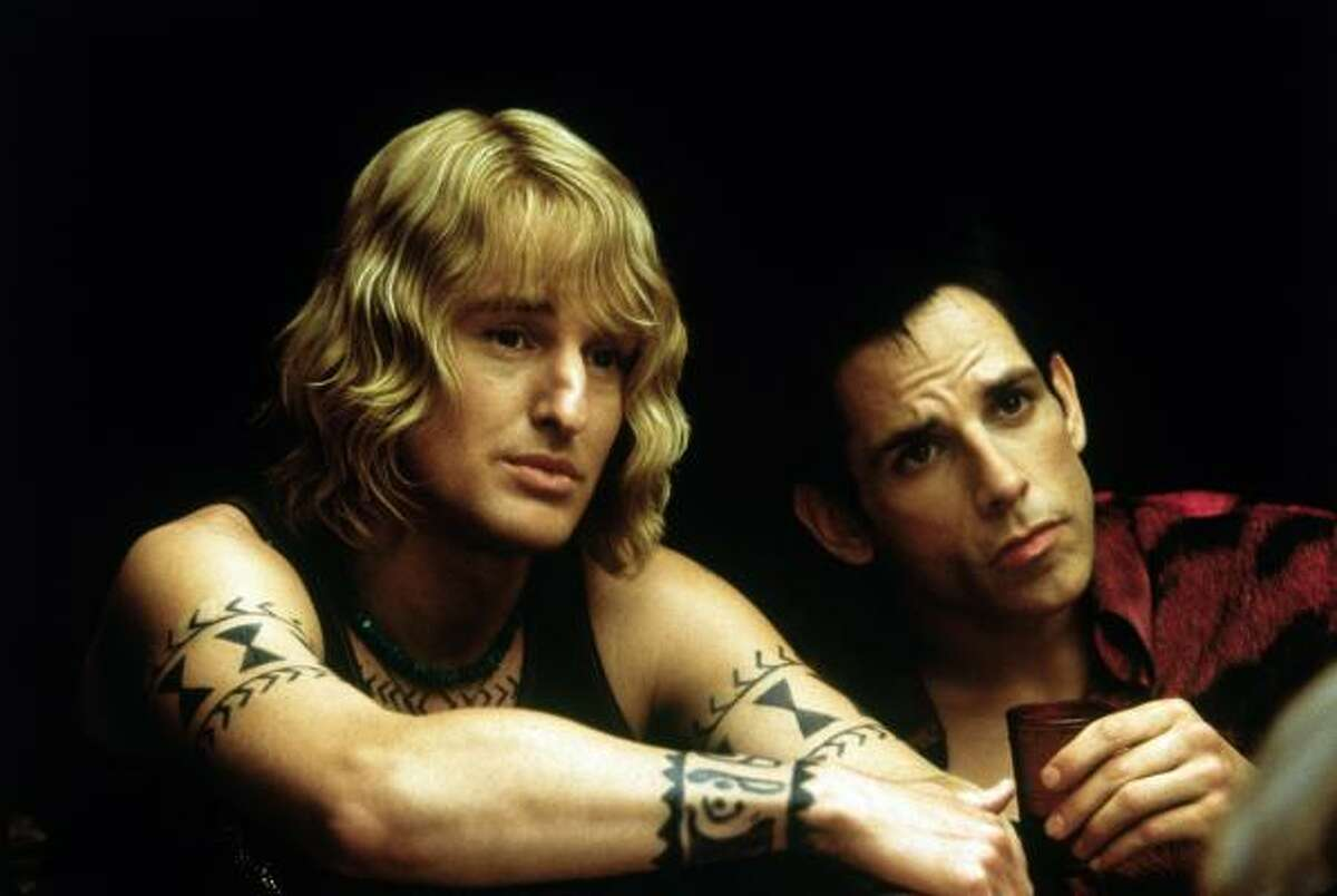Owen Wilson and Ben Stiller have starred in a number of movies together, so many that it's hard to keep count. Shown here in Zoolander (2001), the duo have also acted in Night at the Museum (2006) and The Cable Guy (1996).