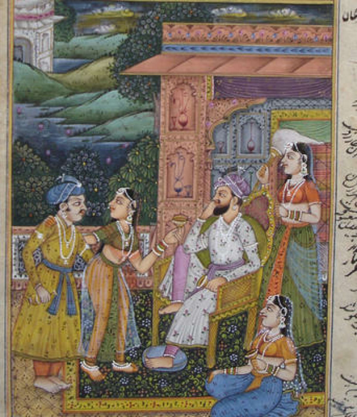 Many people believe that henna was brought to India by the Mughals. Above is a photo of Mughal art in which the women can be seen with henna-stained finger tips. While the origins of henna are difficult to track down, historical evidences traces the practice as far back as ancient Egypt where people used it to staine the fingers and toes of Pharoahs prior to mummification.