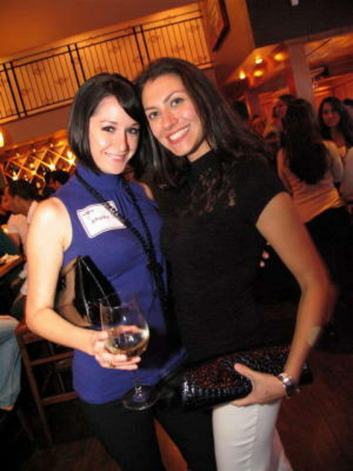 Samantha Pottholl, left, and Lorainne Luera