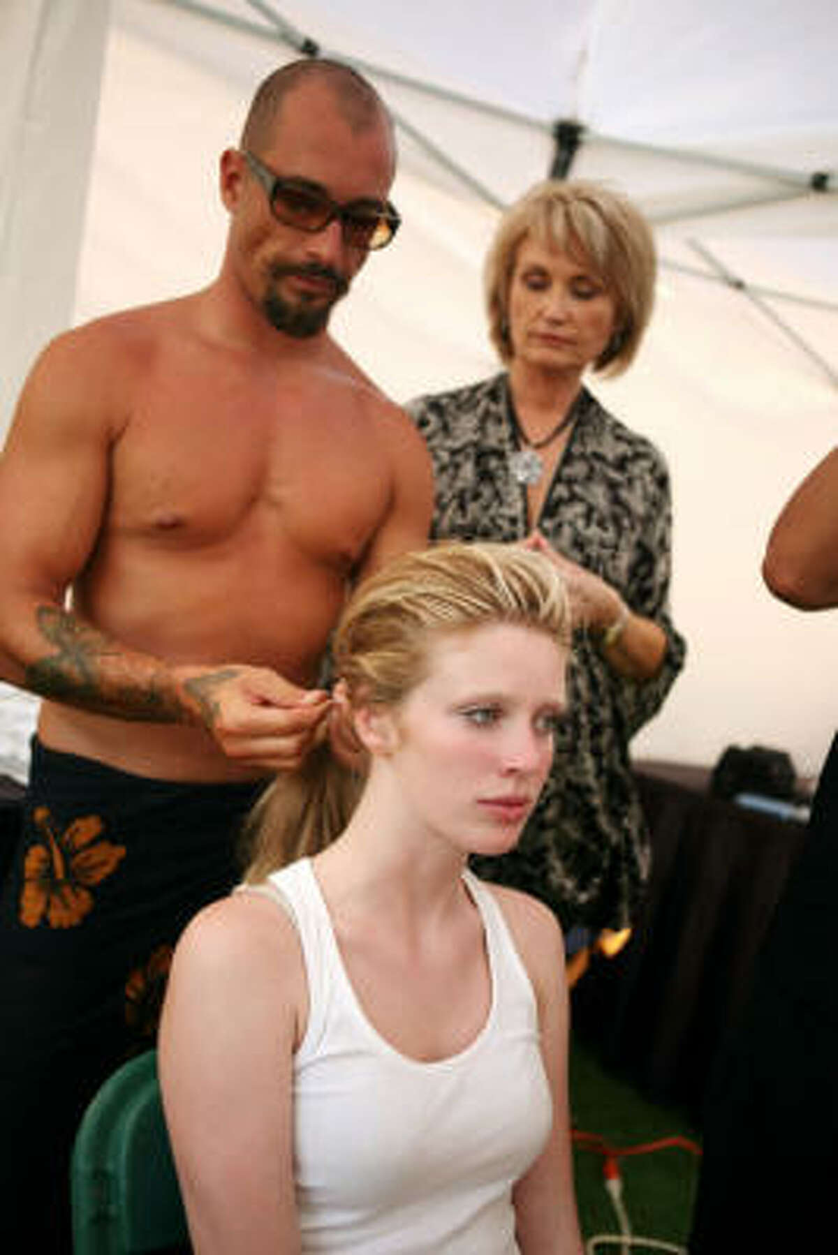 Laura gets ready for her final CoverGirl commercial.