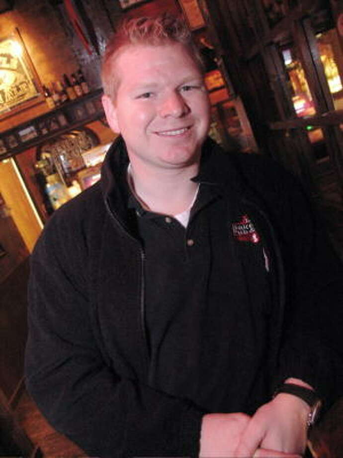 Mark Montory unwinds at Baker Street Pub, located at 5510 Morningside Drive. Photo: Jordan Graber, For The Chronicle