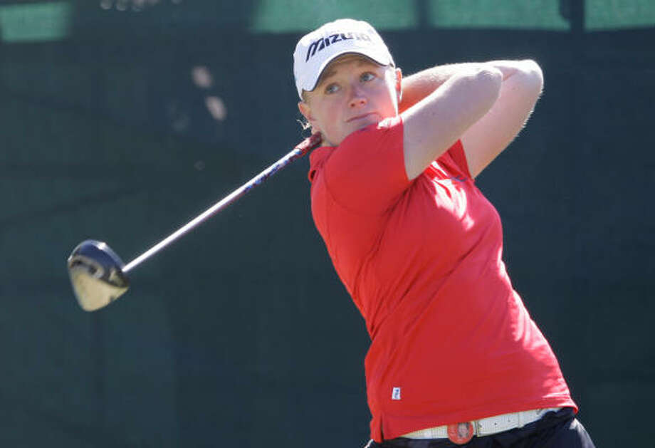Stacy LewisProduct of The Woodlands and 2007 NCAA Division I champ while at Arkansas tied for third at last year's U.S. Women's Open. Read Stacy Lewis' nightly blog. Photo: Melissa Phillip, Chronicle