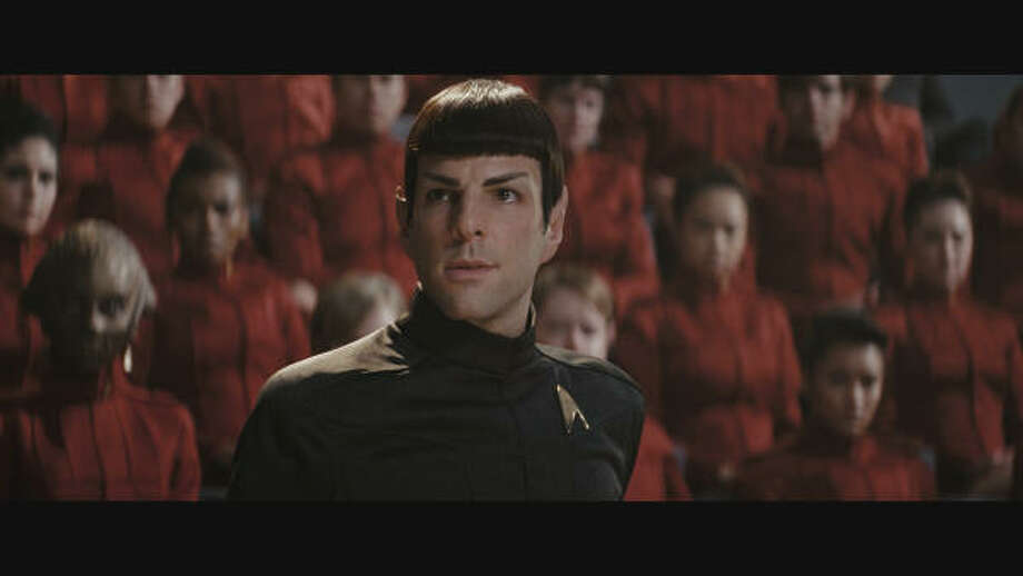 Star Trekis set for DVD release on Nov. 17. Check out scenes from the movie and other movies out this week. Pictured: Zachary Quinto as Spock. Photo: ., Paramount Pictures
