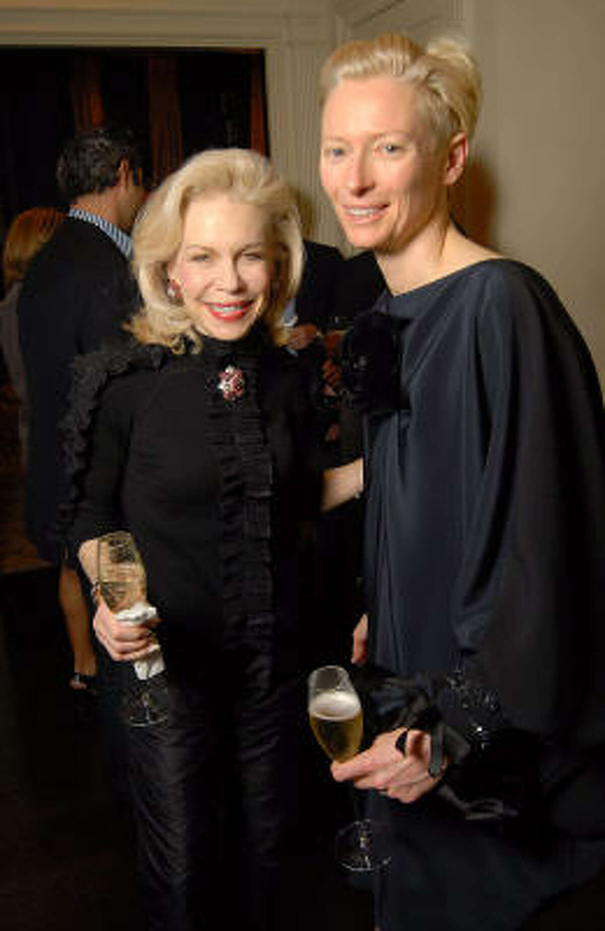 Lynn Wyatt and Tilda Swinton