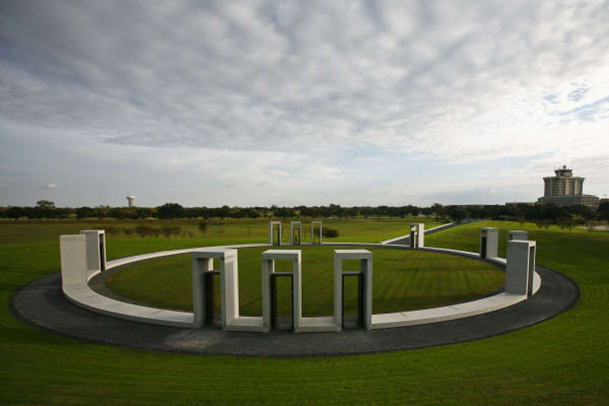 The Bonfire Memorial on the Texas A&M University campus which was built to honor the 12 students killed and 27 injured when the school's traditional bonfire unexpectedly collapsed in 1999. Students have resumed building the bonfire on their own, but off-site of campus.