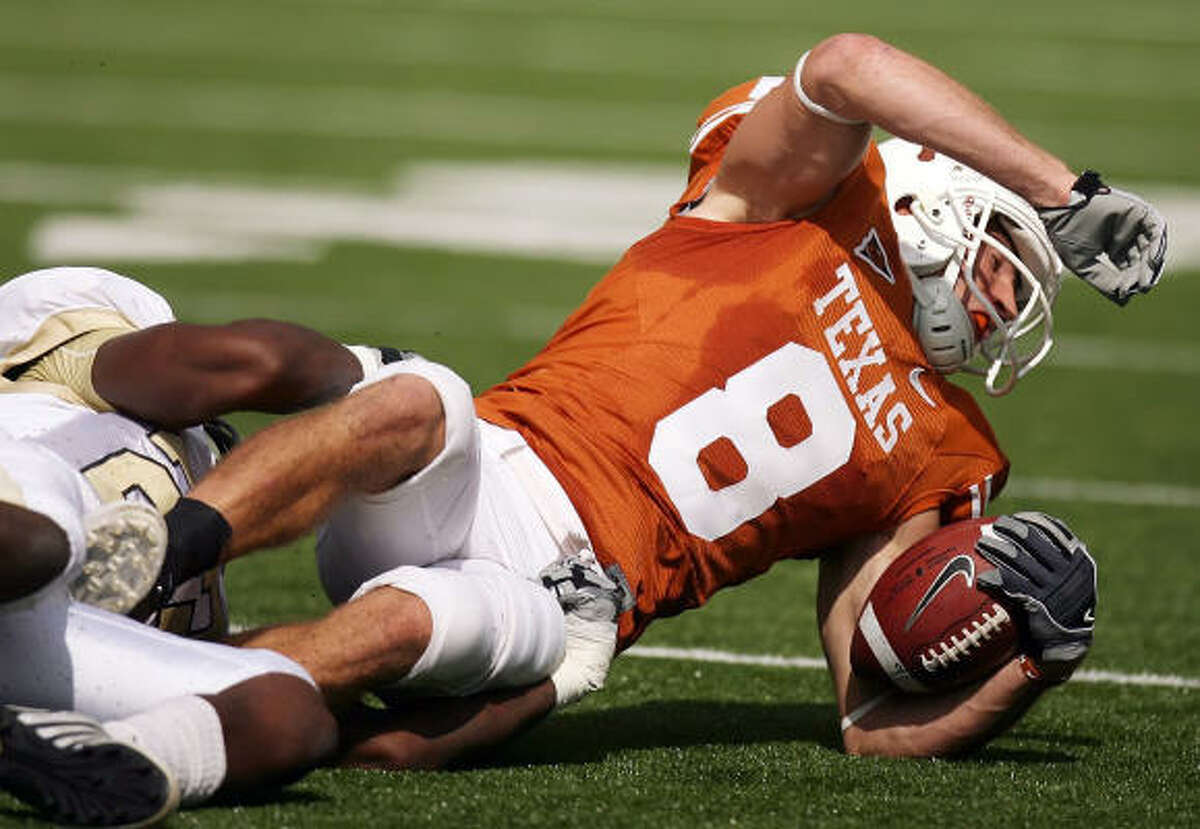 Marquee man Texas receiver Jordan Shipley has caught 75 passes for 1,050 yards and six touchdowns and has two punt returns for touchdowns.