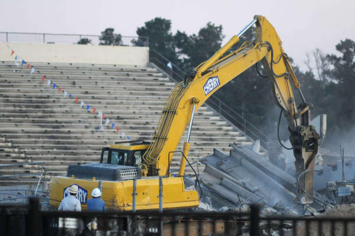 The demolition of Turner Stadium began on Thursday, Nov. 12.