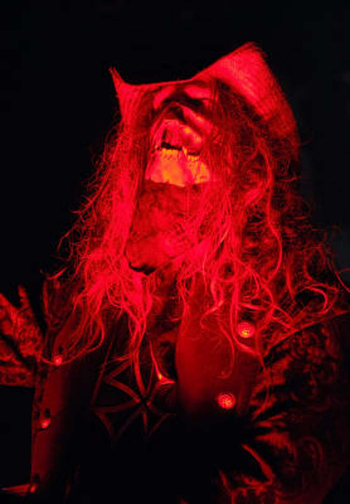 Rob Zombie tears up the stage in Houston at the Verizon Wireless Theater.