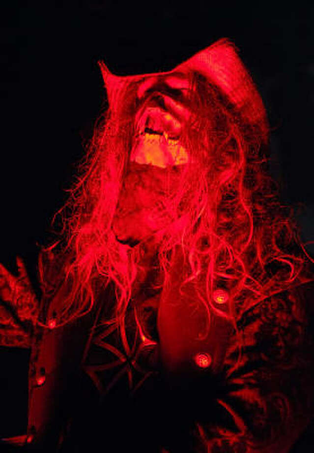 Rob Zombie tears up the stage in Houston at the Verizon Wireless Theater. Photo: Tre' Ridings, For The Chronicle