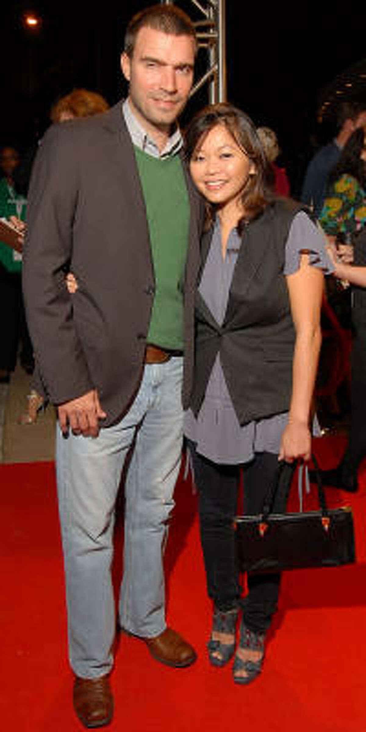 Kenneth Pursley and designer Chloe Dao
