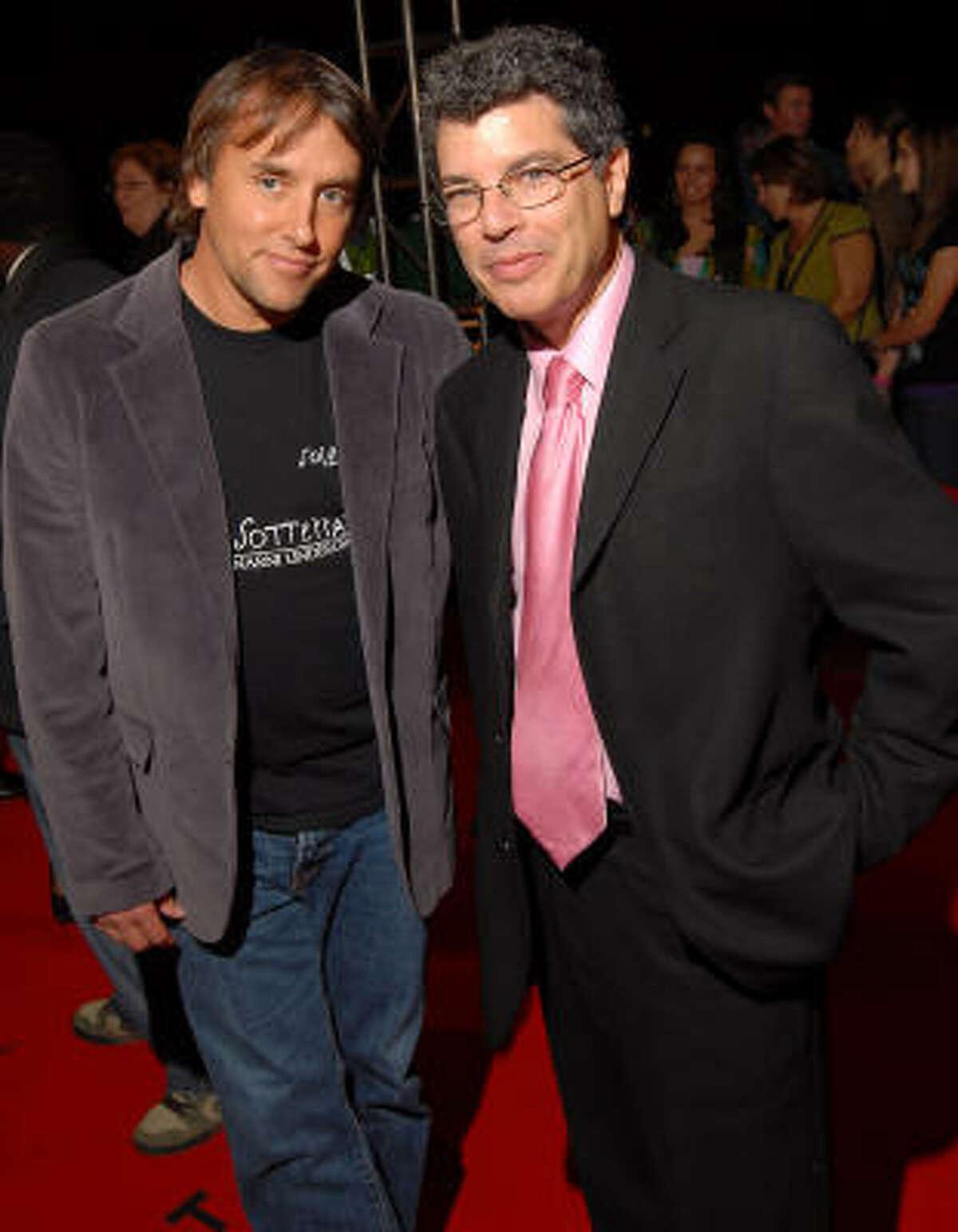 Director Richard Linklater, left, and festival curator Richard Herskowitz