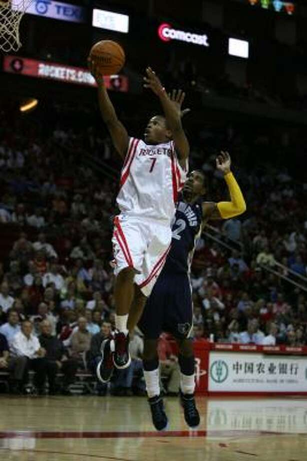 Nov. 11: Rockets 104, Grizzlies 79Rockets guard Kyle Lowry gets a lay-up while Grizzlies guard O.J. Mayo attempts to defend during the first half. Read the story. Photo: Billy Smith II, Chronicle