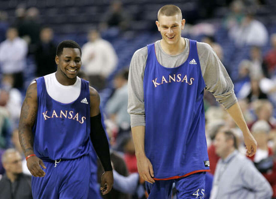 1. KansasSherron Collins, left, is the best senior guard in the country. Cole Aldrich, right, is probably the most well-rounded big man in college basketball. Photo: Darron Cummings, AP