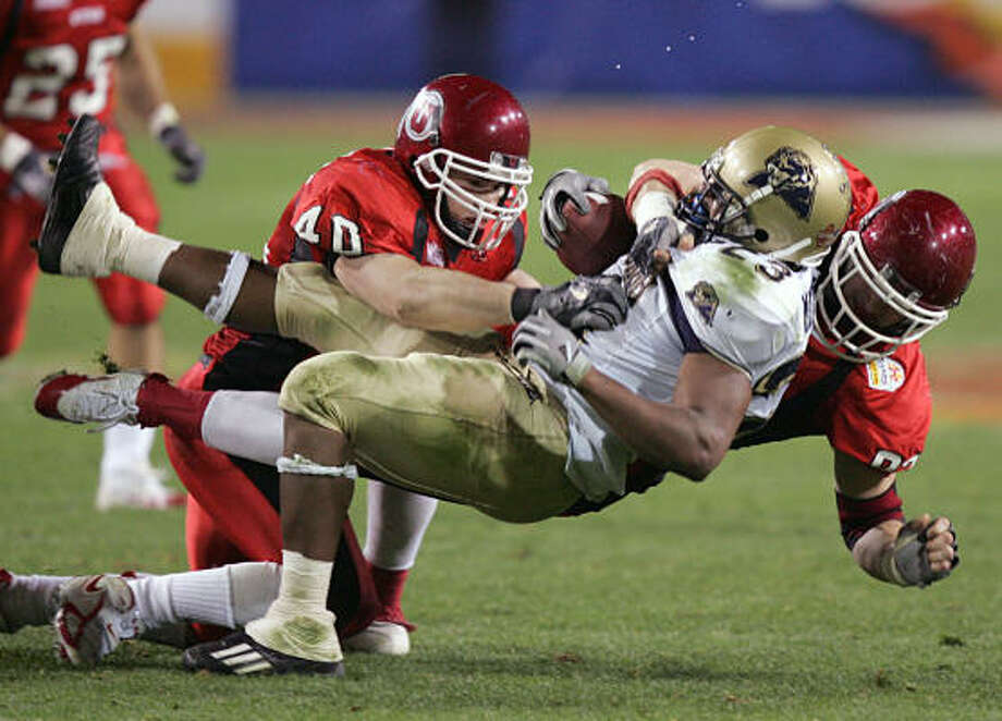 2004: UtahThe Utes were the pioneers of BCS-busting, capping a perfect season with a 35-7 thumping of Big East representative Pittsburgh in the Fiesta Bowl. Coach Urban Meyer and quarterback Alex Smith would go on to bigger and better. Photo: MATT YORK, AP