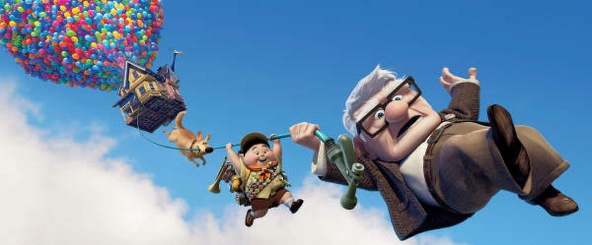 Disney Pixar's Up is about 78-year-old man that sets out to fulfill his lifelong dream to see the wilds of South America by tying balloons to his house. Read the review here.